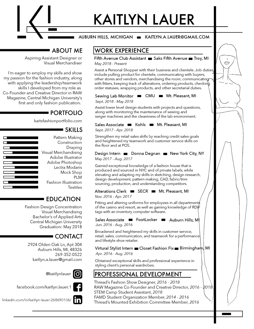 resume kaits fashion portfolio